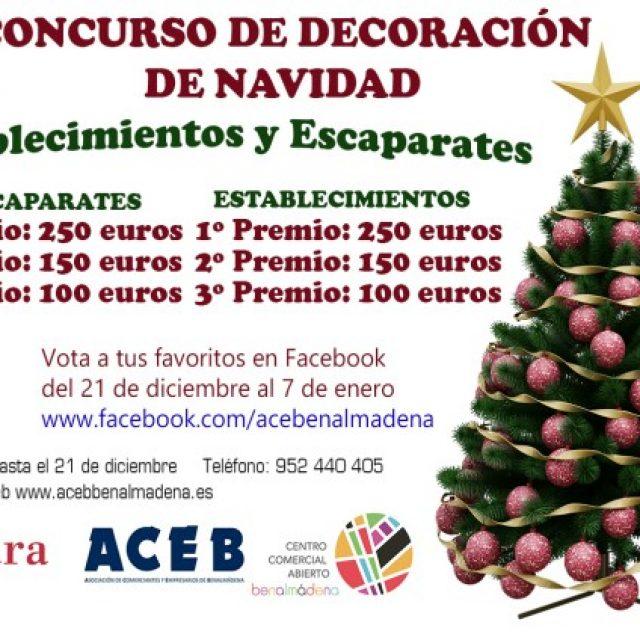 LA ACEB CONVOCA EL CONCURSO DE DECORACIÓN DE NAVIDAD, CON 1.000 EUROS EN PREMIOS