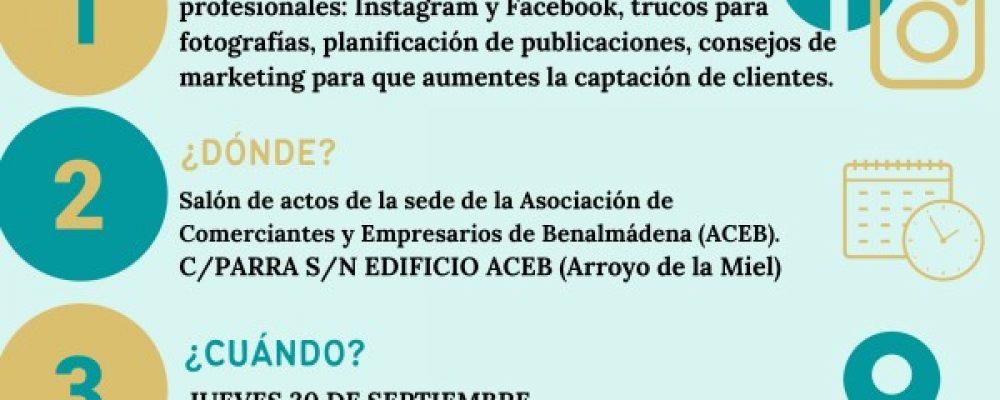 """TALLER GRATUITO """"REDES SOCIALES PARA COMERCIOS"""", EN LA SEDE DE ACEB Y ACCAB EL 30 DE SEPTIEMBRE"""