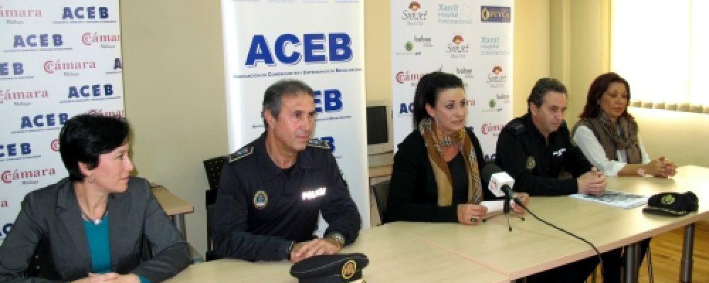 PRESENTADA EN LA ACEB LA CAMPAÑA 'COMERCIO SEGURO' CON RECOMENDACIONES Y AUMENTO DE EFECTIVOS DE POLICÍA EN NAVIDAD